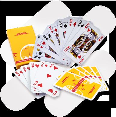 Speelkaarten in bedrukt doosje